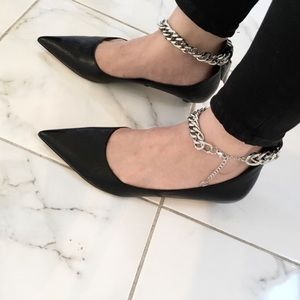 a081b525d15 ZARA ballerinas with chain ankle strap detail